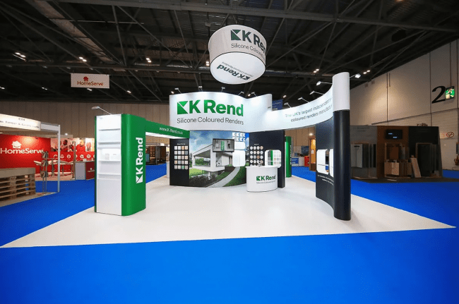 Free2Hire option takes care of all the logistics of transporting and assembling the stand, leaving our client free to concentrate on the exhibition itself.
