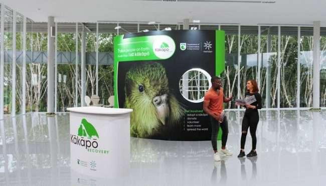 kakapo sustainable exhibition stand