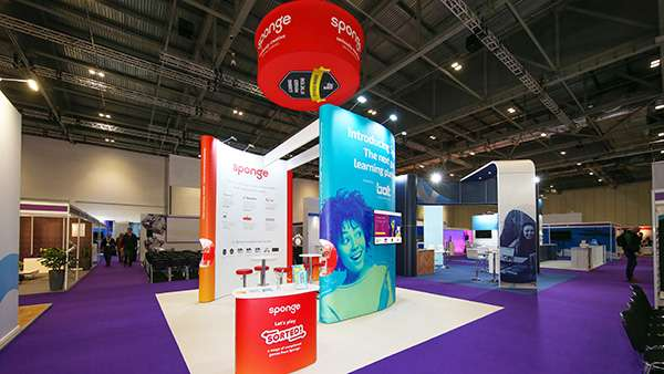Beautiful exhibition stands design for Sponge UK.