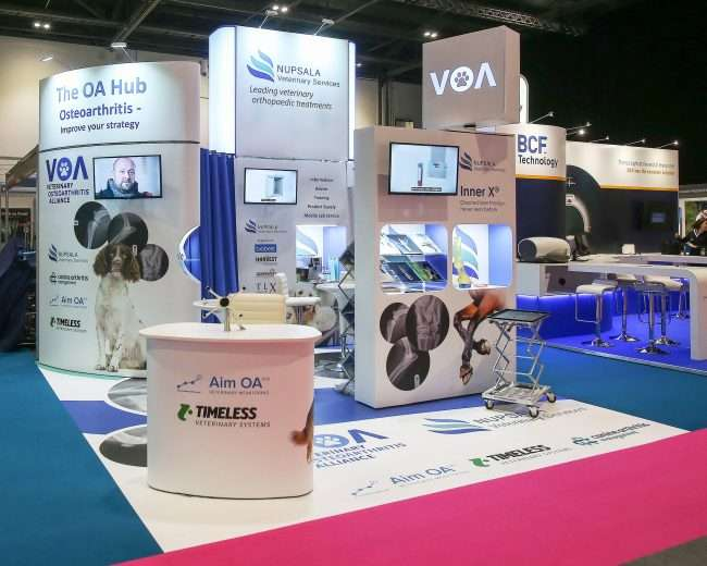 design and installation of stands at London Vet Show 2018