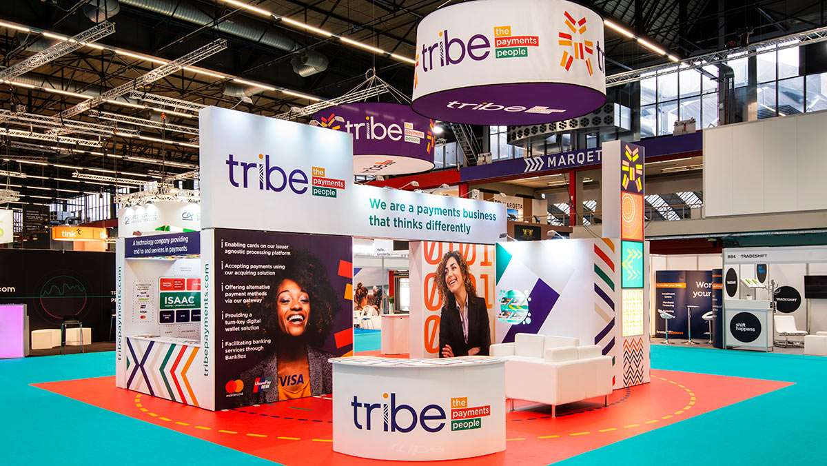 Reusable exhibition stand for Tribe Payments