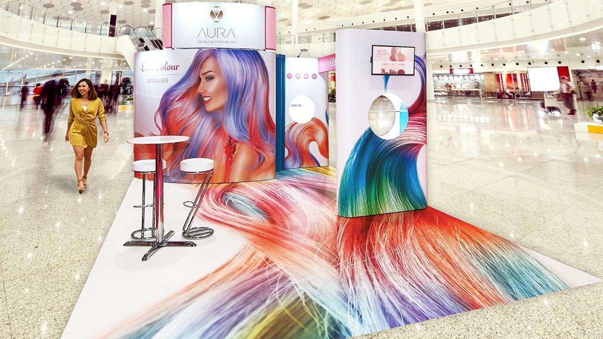 Shell scheme exhibition stand at Professional Beauty Show