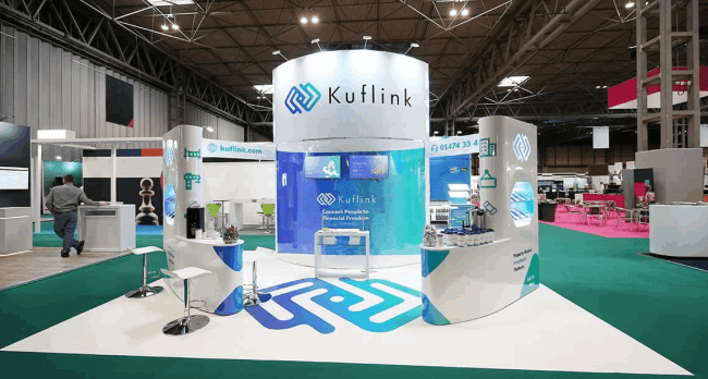 Trade Business Stand for Kuflink Company