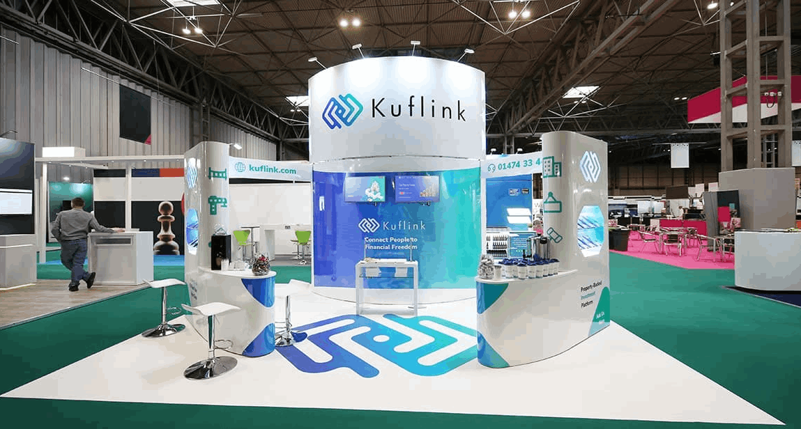 Trade Business Stand for Kuflink Company with new design features