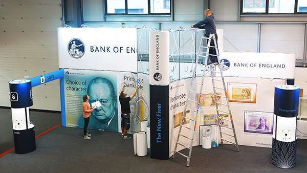 UK stand designers pre-building display booth