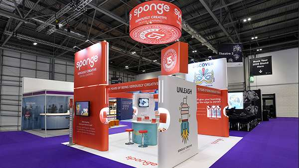 Exhibition stand rental for Sponge UK