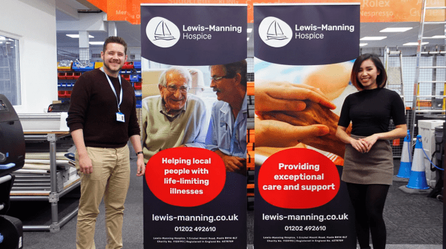 Local Charity Lewis Manning Hospice Receive Two Pull-Up Banners