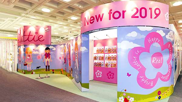 portable exhibition stand at Toy Fair
