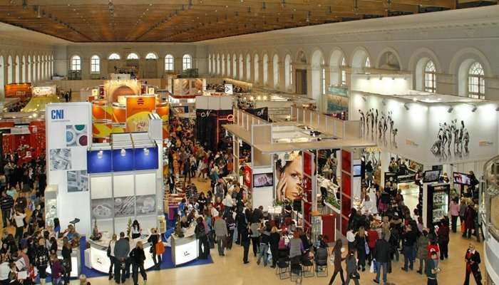 People at a exhibition hall