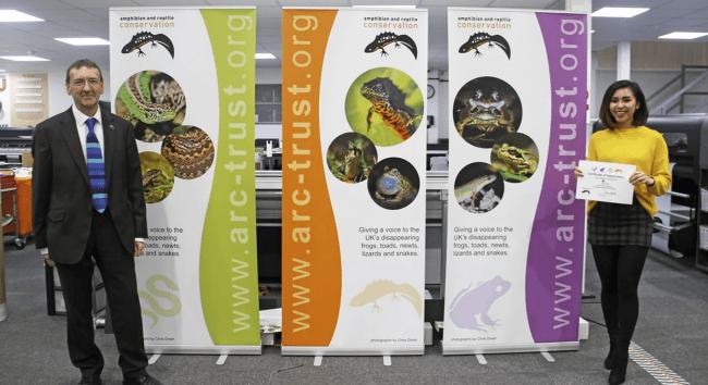 Quadrant2Designs supports ARC Trust, Amphibian and Reptile Conservation Trust.