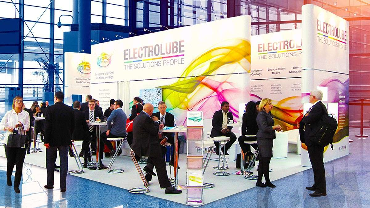 Exhibition stand at UK show in Birmingham