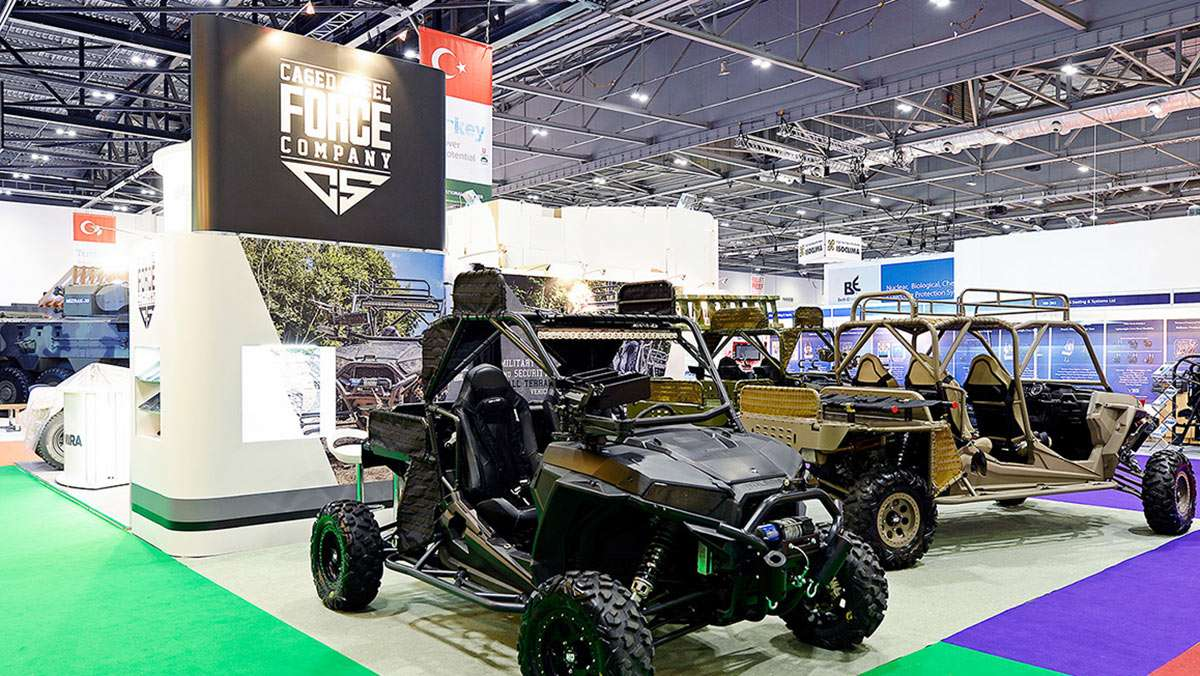 exhibition stand at dsei